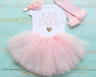 Eat Cake - birthday girl outfit - eat cake - cake smash outfit - birthday tutu - birthday set - girls birthday set
