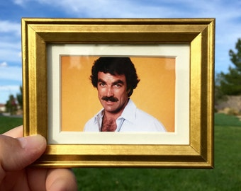 Tom Selleck - Mini Framed Art (FREE S&H)