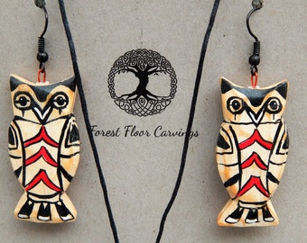 Native American Owl Jewelry Set