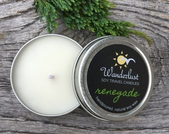 Renegade ~ Wanderlust ~ Soy Travel Candles ~ 2oz tin w/lid