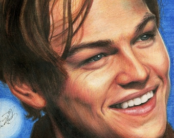 Leonardo DiCaprio Colored Pencil Digital Print