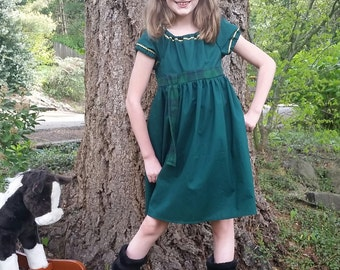 Merida Dress - Merida Brave Inspired Dress - Merida Cotton Play Dress - Merida Green Dress - Merida Disneybound - Girls Merida Costume