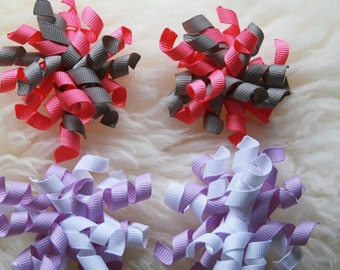 Korker bows, MINI korker bows, Infant bows, Pair of worker bows