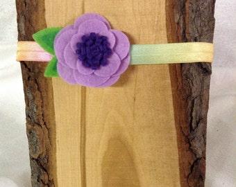 Purple Poppy Headband