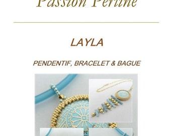 Pattern pendant, ring and bracelet LAYLA