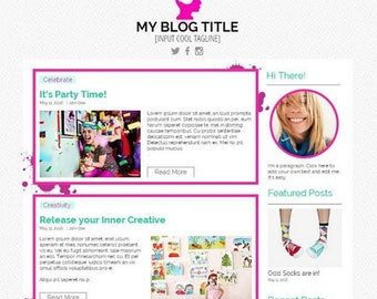 Ready Made Fun Wix Blog Template