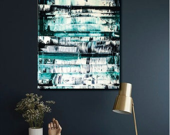 Gerhard Richter style abstract painting in oil