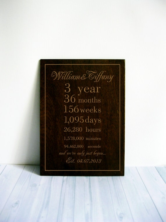 Personalized Wedding Gift 3rd Wedding Anniversary Gift Husband Gift ...