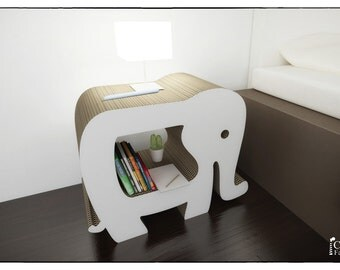 ELEPHANT NIGHTSTANDS BOOKCASE - template laser cutting file - Litter Box Cover, Cat House, Storage, Bookshelf, Bookshelves
