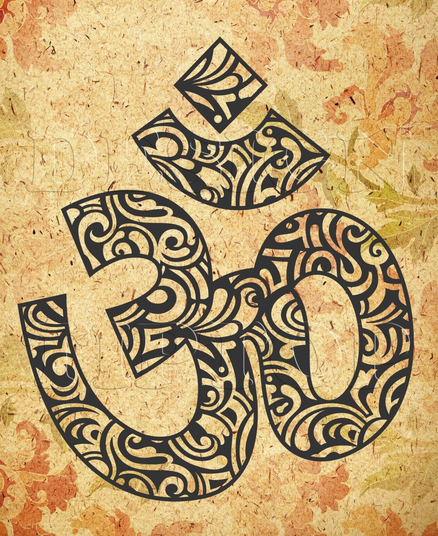 Om symbol svgdxfpng cricutsilhouette yoga om symbol this is a digital file buycottarizona