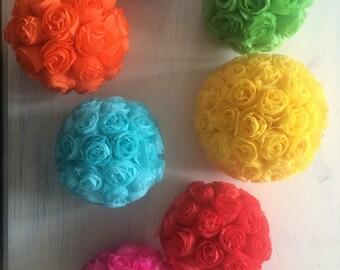 Crepe Paper Floral Bouquet