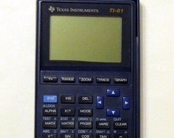 "Vintage Texas Instruments ""TI-81"" Graphing Calculator"