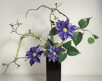Contemporary Silk Flower Arrangement