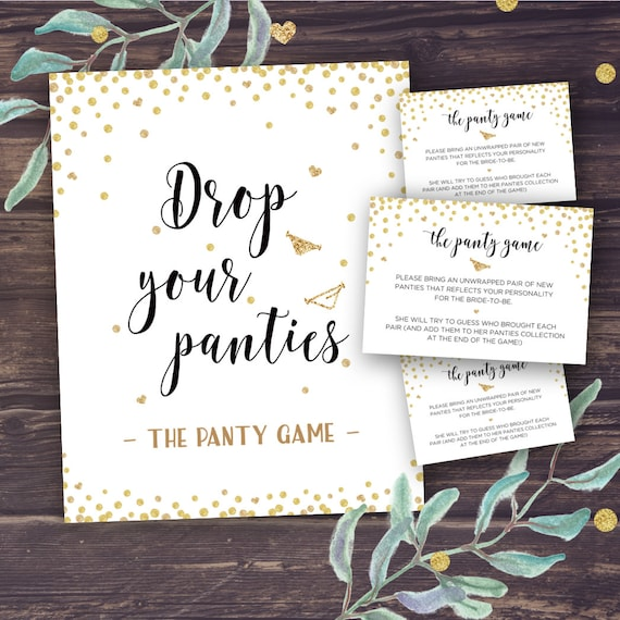 Panty Game Drop Your Panties Bridal Shower Games