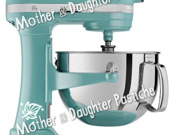 Pyrex Inspired Blowing Leaves Mixer Decal