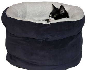 Cats and dogs bed, pet bed, dog bed, cats basket POLAR BEAR BLUE  50X47X32