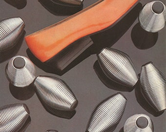 Bergdorf Goodman - Vintage Fashion Print - Orange Shoes - Wall Art Print - Vogue Magazine Ad - Robert Clergerie - Fashion Photo - Delman