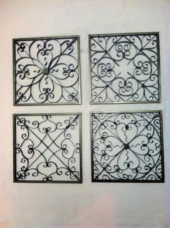 wrought iron style wall art wall decor wall decorations. Black Bedroom Furniture Sets. Home Design Ideas