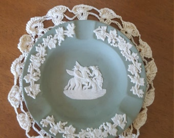 Wedgwood Jasper Ware Small Green Ashtray