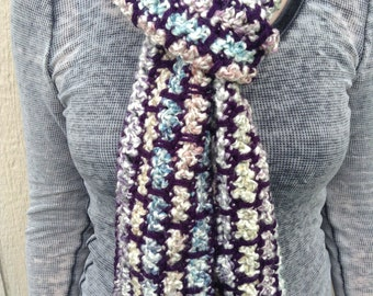 Pastel and Purple Scarf