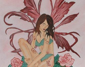 "16x20 Oil Painting  ""Fairy"""