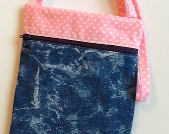 Denim Cross Body Shoulder Bag.
