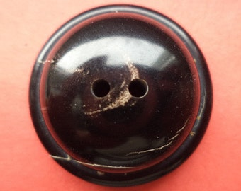 Horn buttons 7 HORN button dark brown 30 mm (5949)