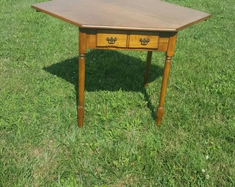 Antique Maple Corner Breakfast Table
