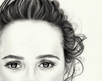 Alicia Vikander Portrait - Art print signed from an original drawing in graphite