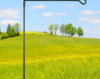 Durable Black Metal Garden Stand - Perfect for displaying your garden flags