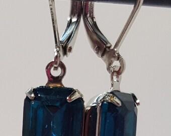 Swarovski Octagon Drop earrings