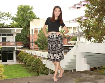 Black skirt /Elephant Skirt /Harem clothing /Elephant clothing /Hippie Skirt /Boho Skirt /Bohemian Skirt