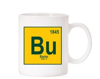 Baylor University Periodic Style Mug | Baylor Bears | Waco TX |  BU | Light Theme