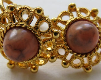 Vintage Sarah Coventry Earrings Vintage Gold Tone Earrings Vintage Jewelry Costume Jewelry Earrings Gold Tone Clip On Earrings