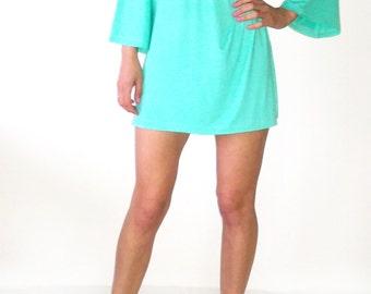 Wide Sleeves Minimalist Women's Tunic/Oversized Tunic/ Mininimal Summer Dress