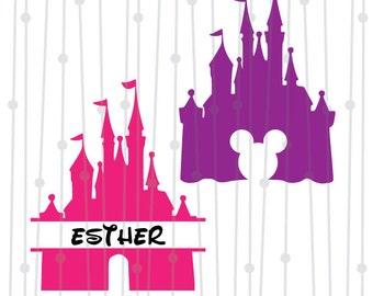 Disney Castle SVG, Mickey Castle SVG, SVG, dxf, digital cut file, silhouette studio, cricut