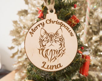 Christmas Ornaments - Personalized Pet Ornaments - Pet Christmas Ornaments - Cat Ornament - Cat Christmas Ornaments - Funny Christmas