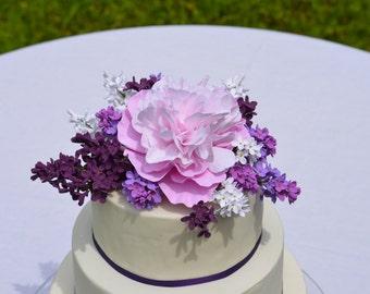 Handcrafted Cake Topper, Wedding Cake Topper, Cake Decoration, Clay Flowers, Hochzeitstorte, Blumenschmuck