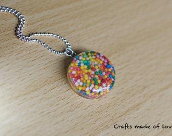 Small round sprinkles pendant