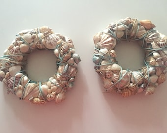 Seashells n' Twine 3 pcs. Wreaths / Candle Rings!