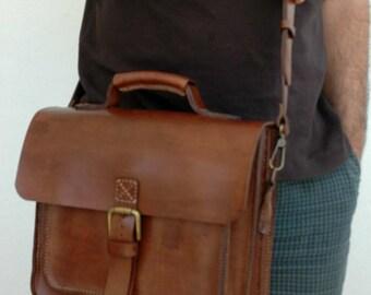 Leather handmade bag, messenger bag, crossbody bag, laptop bag,saddle bag  etc.