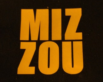 MU MIZZOU Decal - permanent vinyl - perfect for Yeti & Rtic cups, car windows, dorm room doors etc.  Iron-on also available.