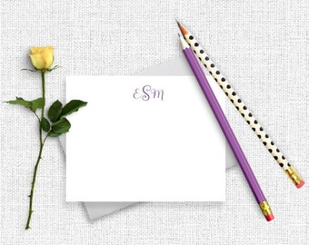 Personalized Monogram Stationery, Monogram Stationary, Personalized Stationery,  Monogram Note Cards, , Personalized Note Cards, MG09