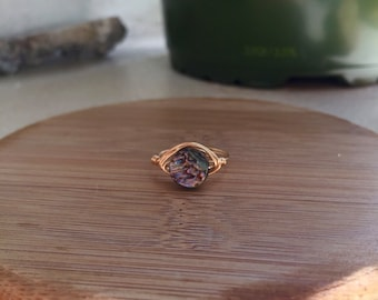 Size 6 Abalone Shell Ring