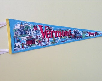 Vermont State Pennant Vintage