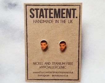 Drake Celebrity Head Stud Earrings - 1 pair