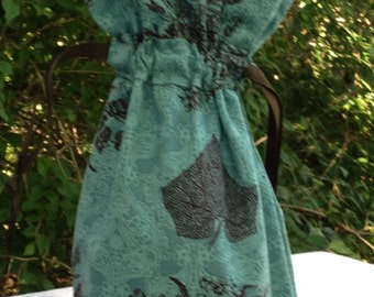 Green and Brown Autumn Fabric Wine Bag