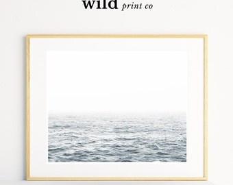 Blank Horizon Print, Horizon Print, Ocean Horizon Wall Art, Modern Minimalist Decor, Minimalistic Wall Art, Ocean Wall Art, Printable Art
