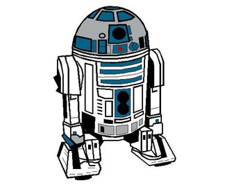 Star Wars embroidery design R2-D2 R2D2 machine Instant Download