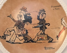 Collector plate by Norman Rockwell, Rockwell on Tour, Promenade A Paris